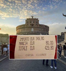 Turistai liko šokiruoti: Romoje už žuvį ir spagečius gavo 430 Eur sąskaitą