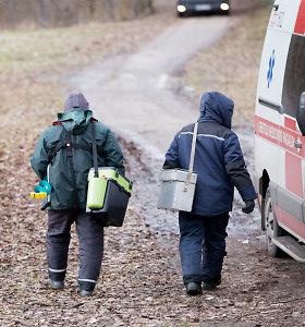Ant Kauno marių užstrigo du žvejai: pasislinkus ledui nebegalėjo grįžti į krantą