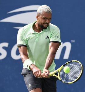 """Jo-Wilfriedas Tsonga """"Challenger"""" turo finalą laimėjo rekordiniu greičiu"""
