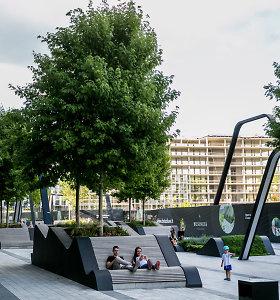 """Pasižvalgykite: vieša erdvė vietoj """"Žalgirio"""" stadiono – suolai, medžiai, fontanai ir daug trinkelių"""