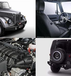 """Tiuningo"" dirbtuvės pagamins 12 žvėriškų GAZ 69: V8 variklis senieną pavers monstru"