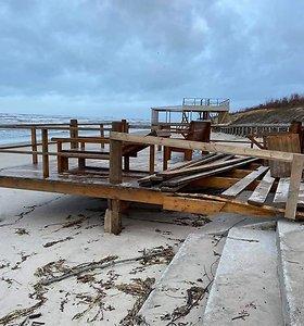 Palanga ir Klaipėda po audros: skaičiuojami nuostoliai, paplūdimiams smogta stipriausiai