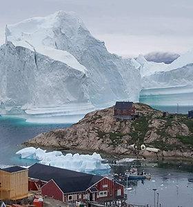 Didžiulis ledkalnis grasina miestelio Grenlandijoje gyventojams
