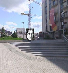 Paminklas Johnui Lennonui – gyvenamąja erdve virstančioje buvusioje apleistoje Vilniaus vietoje