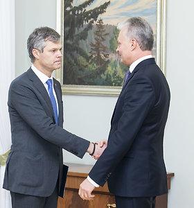 Gitanas Nausėda susitiko su VSD vadovu Dariumi Jauniškiu