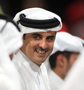 Regioninės krizės įkarštyje Kataro šeichas atvyko vizito į Iraną