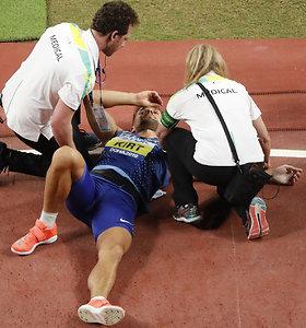 Estijos ieties metikas finalo metu patyrė traumą