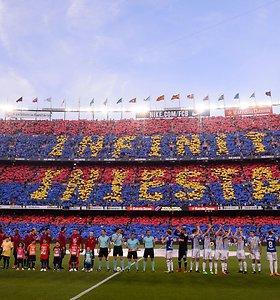 """""""Barcelona"""" sezoną baigė pergale ir atidavė duoklę A.Iniestai"""