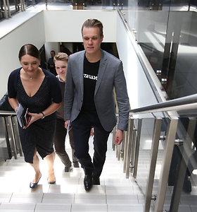 Gabrielius Landsbergis su šeima balsuoja išankstiniuose rinkimuose
