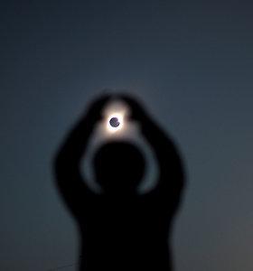 Pietų Amerikoje buvo galima stebėti visišką saulės užtemimą