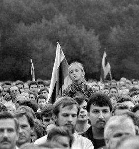 """Didžiausią mitingą Lietuvoje įamžinęs fotografas: """"Sunkiausia buvo prasibrauti pro minią"""""""