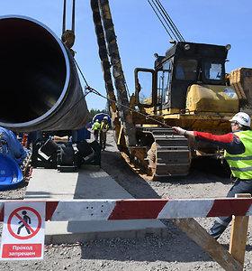 """V.Putinas: dujotiekis """"Nord Stream 2"""" bus baigtas iki 2021 m. pradžios"""