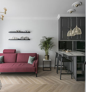 Mažame Vilniaus senamiesčio bute dizainerė pasiūlė pajusti istorijos pulsavimą