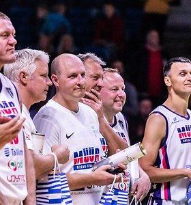 Esto krepšinio legendos Martino Muurseppo pagerbimo rungtynėse – Saulius Štombergas.