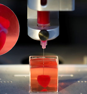 Neįtikėtinas proveržis medicinoje: pristatyta pirmoji 3D spausdintuvu sukurta širdis