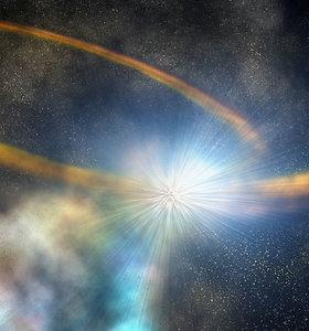 Pamatykite, kaip juodoji skylė negailestingai praryja pasmerktą žvaigždę – tai itin retas kosminis reiškinys