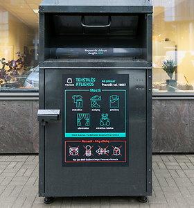 Vilniuje atsirado 105 nauji tekstilės konteineriai