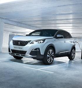 """""""Peugeot 3008"""" sėkmės istorija tęsiasi: pristatomas 300 AG hibridinis modelis"""