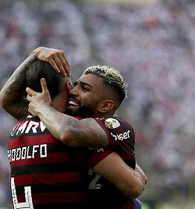 """Neįtikėtina """"Copa Libertadores"""" atomazga: vėlyvi įvarčiai pasiuntė Rio de Žaneirą į euforiją"""