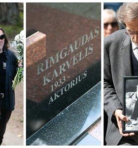 Aktorius Rimgaudas Karvelis amžinojo poilsio atgulė Menininkų kalnelyje: palaidotas šalia sūnaus