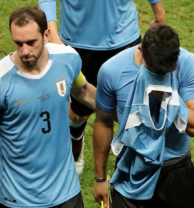 """""""Copa America"""": po Luiso Suarezo neįmušto baudinio iškrito Urugvajus"""