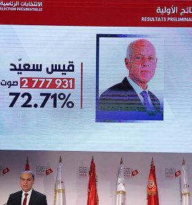 Oficialūs rezultatai: Tuniso prezidento rinkimus laimėjo K.Saiedas