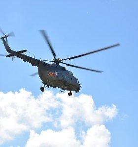 Karinių oro pajėgų sraigtasaparnis padėjo rasti miške pasiklydusį žmogų