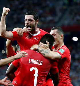 E grupės finišas – dramatiškos lygiosios ir Šveicarija aštuntfinalyje