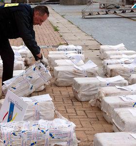 Lenkijoje konfiskuota rekordinė kokaino siunta iš Kolumbijos