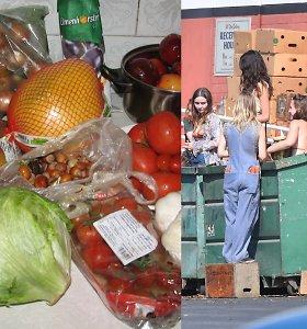 Konteineriuose gero maisto ieškodavusi Kristina: ten galima rasti tiek, kad nebereikia parduotuvių