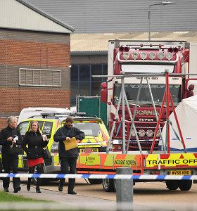 Jungtinėje Karalystėje sunkvežimyje rasti 39 lavonai