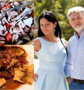 """Vakarienė pas Jurgą ir Paulių. Aštuonkojai su """"Novello"""" aliejumi. Kurie laimi – pagaminti Kalabrijos ar Kampanijos būdu?"""