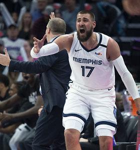 """J.Valančiūno dublio buvo maža: """"Rockets"""" nušlavė """"Grizzlies"""" ekipą"""