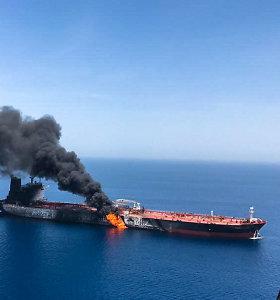 """JAE: atakos prieš tanklaivius Omano įlankoje yra """"pavojinga eskalacija"""""""