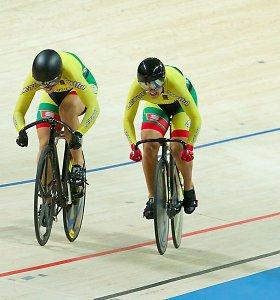 Lietuvos dviratininkai pasaulio taurės etape pagal medalius pasidalijo trečią vietą