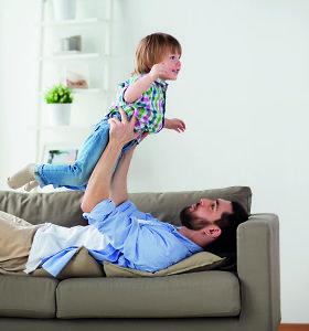 Vaiko priežiūros atostogose pabuvę tėčiai: tai prilygsta 2,5 etato, bet teikia daug džiaugsmo