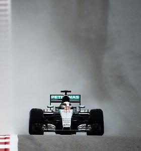 Dėl smarkaus lietaus JAV GP kvalifikacija nukelta į sekmadienį