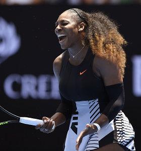 """Antra """"Australian Open"""" diena: įspūdingas I.Karlovičiaus pasirodymas, sublizgėjęs JAV talentas ir puikus S.Williams startas"""