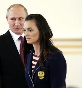 WADA kritikuoja Rusiją dėl Isinbajevos paskyrimo antidopingo agentūros vadove