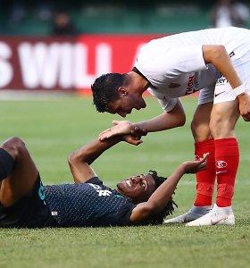 """Futbolo drama Bostone – be išvyto žaidėjo likusi """"Sevilla"""" nukovė """"Liverpool"""""""