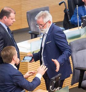 Seimo opozicija tariasi dėl lyderio, socialdemokratai nenori rašytinio susitarimo