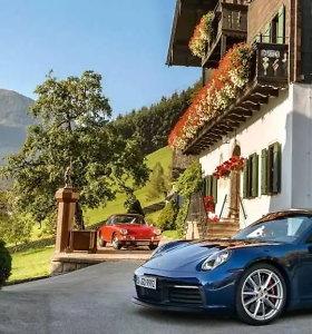 """Ką primena naujojo """"Porsche 911"""" užvedimo rankenėlė?"""