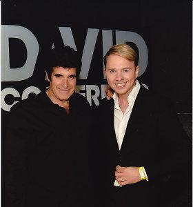 """Mantas Wizard Las Vegase susitiko su Davidu Copperfieldu: """"Apie tai svajojau nuo vaikystės"""""""