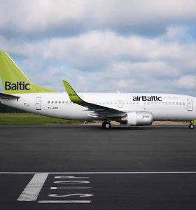 """""""Air Baltic"""" nuostoliai pirmąjį pusmetį pašoko 71 proc."""