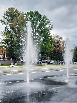Klaipėdos savivaldybės nuotr./Jono kalnelio fontanai