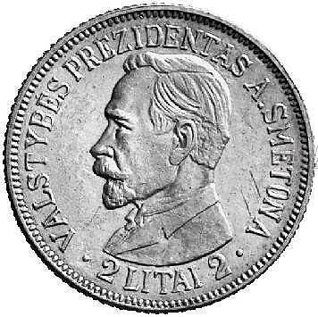 Colnect.com nuotr./A.Smetona ant 2 litų monetos