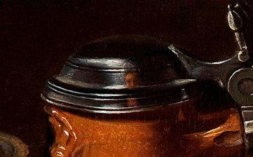 Claros Peeters paveikslo dalis/Claros Peeters autoportretas, paslėptas paveiksle