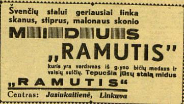 """epaveldas.lt nuotr. /Midaus reklama 1938 m. """"Lietuvos žiniose"""""""