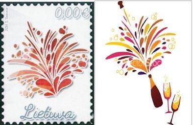 15min nuotr. /Pašto ženklų konkurso laimėtojas ir paveiksliukas iš interneto