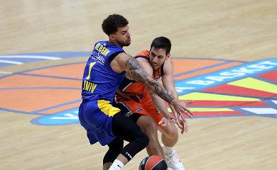"""""""Valencia"""" stebuklingai palaužė mačo pabaigoje sugriuvusį """"Maccabi"""""""